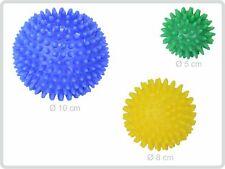 Igelball Igel-Ball Noppenball 3er (blau - gelb - grün) - Massageball