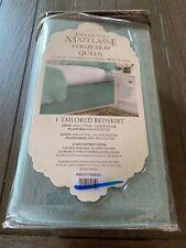 "Diamond Matelasse Collection Queen Bedskirt 15"" Drop  Levinsohn ~ Textile Green"