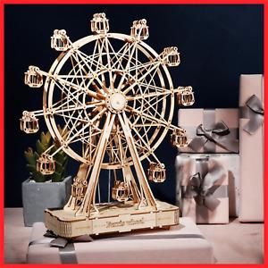 Robotime 232pcs Rotatable DIY 3D Ferris Wheel Wooden Model Building Block Kits