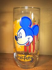 "Vintage Disney Mickey Mouse With Stars Drink Glass 5 7/8"" Tall"
