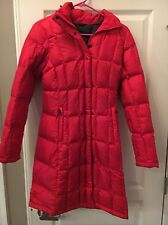 THE NORTH FACE WOMENS METROPOLIS PARKA LONG JACKET DOWN WINTER COAT RED SIZE XS