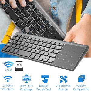 Ultra Slim Wireless Keyboard Touchpad For Apple iPad iPhone Android Mac Windows
