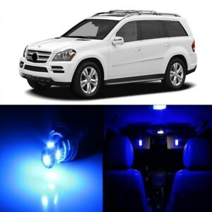 17 x Blue LED Interior Light Package For Mercedes Benz GL 2006 - 2012 + TOOL