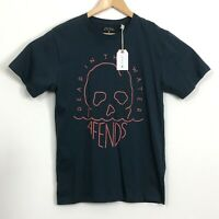 AFENDS Mens Navy Blue Dead In The Water 100% Cotton T-Shirt Size S NWT RRP $49