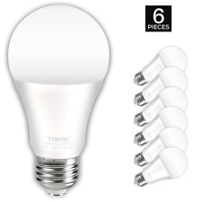 TIWIN A19 E26 LED Light Bulbs 100 watt equivalent (11W) Daylight (5000K) 6 Pack