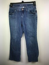 Mossimo Womens Jeans Boot Cut Size 5 Stretch Dark Wash Excellent Condition
