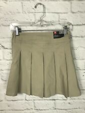 NEW Under Armour Youth Girls Khaki Pleated School Uniform Skirt Skort Size 10