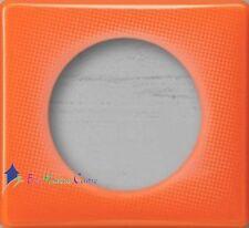 Lot de 10 plaques simple 70's Céliane orange Legrand 66651 Nouveauté 2015