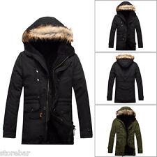 Homme Veste d'hiver Manteau Parka Manteau Encapuchonné rembourré Trench Jacket