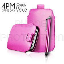 Premium PU Leder Pull Tab Etui Schutzhülle & Stylus Für Verschiedene Nokia Handys