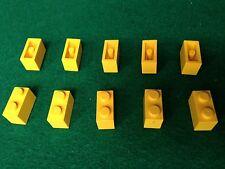 LEGO (3004) 1x2 - GIALLO GELB YELLOW , 10 Mattoncini Brick Basic Stein
