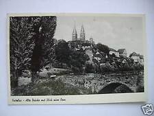 AK Fritzlar Alte Brücke mit Blick zum Dom