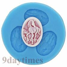 Unicorn Cabochon Silicone Mold Mould For Polymer Clay Fimo Cameo 25x18mm A238