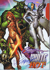 J SCOTT CAMPBELL HAND SIGNED WHITE HOT SKETCHBOOK HARDCOVER HC SDCC