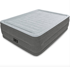 """Full-Size Bed 22"""" Inflatable Raised Air Mattress Built-in Self-Inflating Pump"""