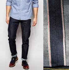 Abercrombie&Fitch Raw Selvedge Denim Men's Slim Straight Stretch Jeans NEW 32x30
