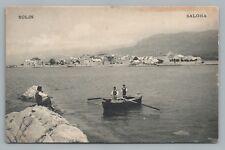 Solin Croatia—Boat Men—Rare Antique Dalmatia Postcard Salona 1910s