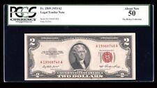 DBR 1953 $2 Legal Fr. 1509 PCGS AU-50 Serial A19968748A