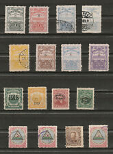 El Salvador -- mixture of 16 stamps, most used, all have been hinged