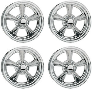 "NEW 15x7"" BILLET SPECIALTIES RIVAL WHEEL SET,LEGENDS SERIES,POLISHED,GM,5 X 4.75"