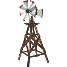 Char-Log 6ft. Ornamental Wood Windmill