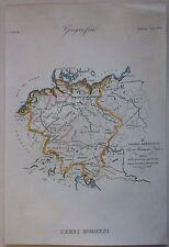 1845 IMPERO GERMANICO acquaforte Marmocchi Heiliges Römisches Reich Deutschland