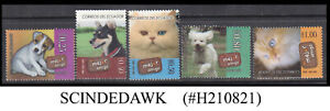 ECUADOR - 2006 PET ANIMALS - CATS DOGS - 5V - MINT NH