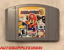MARIO PARTY 3 (Nintendo 64 N64, 2001) Video Game Cartridge Tested Super MINT