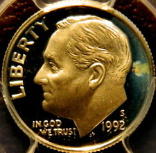 1992 S PROOF ROOSEVELT DIME, SILVER, PCGS CERTIFIED PF 69 DEEP CAMEO,