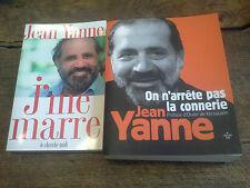lot de 2 livres de Jean Yanne j'me marre On n'arrête pas la connerie