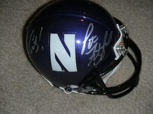 PAT FITZGERALD signed NORTHWESTERN WILDCATS mini helmet GO CATS! player