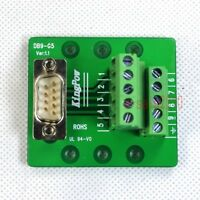 D-SUB 9 DB9 Plug Male Header Breakout Board, Terminal Block Solderless Connector