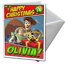 Toy Story-Carte de Noël Personnalisé-fils, fille, neveux, nièces, frère