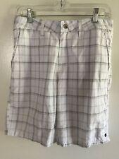 Quiksilver Amphibian Shorts - Men's size 28 - White/blue plaid
