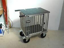 Titan Mittelgroß 1 Liegeplatz Aluminium Hunde Turnier Trolley mit 20.3cm