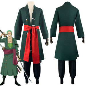 One Piece - Roronoa Zoro Cosplay Costume Outfits Halloween Carnival Suit