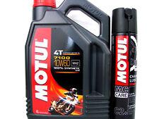 4Liter Motul 7100 Öl 10W60 Motorradöl 10W-60 4-Takt + 400ml Kettenspray C2+