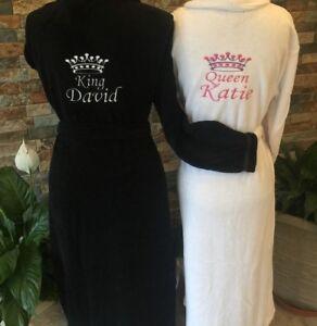 Hot tub Luxury Hotel lush Embroidered NAME 100% Cotton Bathrobe ,Dressing Gown