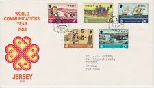Jersey FDC First Day Cover 1983 Communications Year 10% off 5