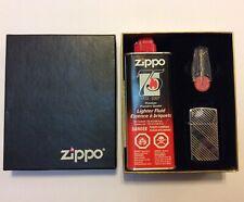 1998 ZIPPO SLIM LIGHTER GIFT SET NIAGARA FALLS CANADA FLINT & FLUID DIAGONAL