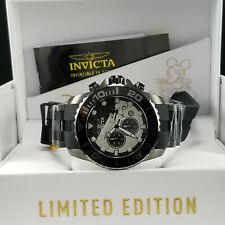 Invicta Disney® 50mm Pro Diver Chronograph Limited Ed Gunmetal/Black SS Watch