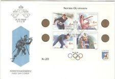 Norway Olympic Games 1994 2nd Olympic sheet with First Day cancel Oslo 5-10-1990