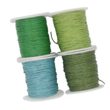 8 Roll of 80m Waxed Cotton Cord String Rope Jewelry Making Findings 1mm Wide