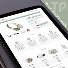 Ebay Vorlage 2020 ★CRYSTAL Ebay Html Template Responsive grau grün + Html Editor
