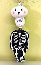 """New ListingPatricia Breen Kinetic Skeleton Skelton Black Glass Glitter 2004 #2325 7.5"""""""