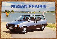 1986 NISSAN PRAIRIE Sales Brochure inc Anniversary II - Brand New Old Stock!!