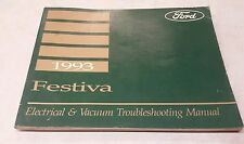 1993 Ford Festiva Electrical & Vacuum Trouble shooting Manual