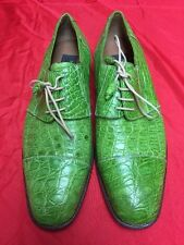 Mezlan Platinum Vero Cuoio Genuine Crocodile Size 9m Dress Shoes