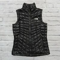North Face Thermoball Vest Womens Size S Black Quilted Down