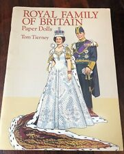 ROYAL FAMILY OF BRITAIN PAPER DOLLS SET Vintage Book QUEEN Diana NEW The Crown